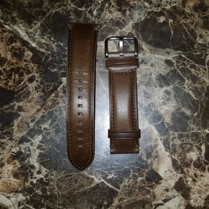 Brown leather Fossil watch straps